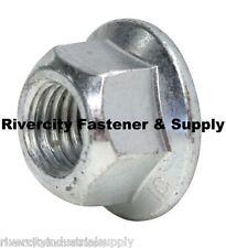 (5) M14-2.0 Metric Hex Flange All Metal Lock Nut Class 10 DIN 6927 Zinc Plate