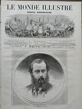 """LE MONDE ILLUSTRE 1871 N 766 """" LE PRINCE DE GALLES, ALBERT- EDOUARD"""""""