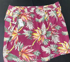Polo Ralph Lauren Swim Trunks Tropical Floral Berry Board Shorts Men 4XB Big NWT