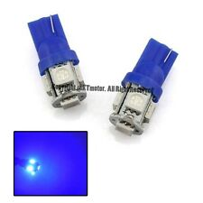 Brand New 2 Pcs Blue T10 5-SMD Wedge 5050 LED Light Bulbs 192 194 W5W 168 Xenon
