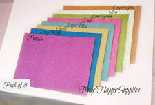 Glitter card non shed A4 range - smooth. 8 x colours in a pack. 210gsm