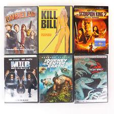 Dvd Lot Action Movies lot of 6 Kill Bill, Miib, Zombieland, Jurassic Park