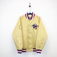 Vintage STARTER Black Label Philadelphia 76ers Satin Varsity Jacket Gold | XL