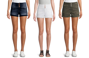 No Boundaries Juniors' High-Rise Corset Shorts