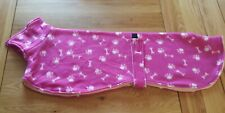 Greyhound / whippet dog fleece coat 29inch 74cm pink paw print   double layer