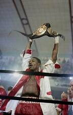 Old Boxing Photo Marlon Starling Celebrates The Fight Against Mark Breland 2