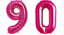 """90th Birthday Party Giant Pink Number """"90"""" Foil Balloon Helium Air Decoration"""