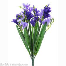 Artificial silk Freesia purple lilac bunch wedding flowers 50cm