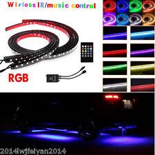2×120cm+2×90cm RGB LED Strips Under Car Tube Underglow Underbody Neon Lights Kit
