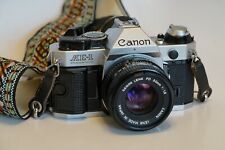 Near Mint Canon AE-1 Program 35mm Film Manual Camera w/ 50mm F1.8 Lens Tested