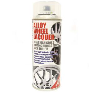 E-Tech Clear Alloy Wheel Lacquer Chip Resistant Wheel Refurbishing 400ml