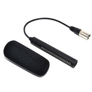 JJC Microphone for Sony ECM-NV1 DSR-250P HVR-Z1C Panasonic AJ-MC700P HMC-173MC