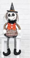 """New Halloween Night Living Dead Skull GIRL WITCH HAT SKELETON DOLL Figure 18"""""""