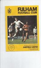 Teams S-Z Division 2 Sheffield United Football Programmes