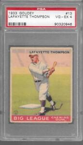 1933 Goudey #13 LAFAYETTE THOMPSON Dodgers PSA 4 VG-EX