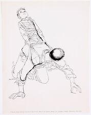 David Stone Martin Boy with Father Playing Horseback Lithograph