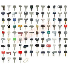 100 Heavy Construction Equipment Ignition Keys Set For Cat Case Deere Kubota Jcb