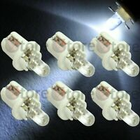 6 LED Lampade T5 B8.5D BIANCO Lampadine Quadro Strumenti Cruscotto Luci Auto 12V