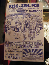 Partition Kiss sen fou F Gabutti Surprise Party Music Sheet