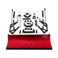 Hot Racing SCX1213P02 Complete Red Aluminum Snow Plow Kit Axial SCX10 II