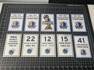 Dallas Mavericks Champion & Retired Number Decal Banners Nowitzki NBA