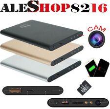 MICROSPIA CON TELECAMERA SPIA HD AUDIO E VIDEO 1080P CON PAWER BANK 5000MHA H2