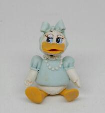 Vintage Clay Daisy Duck Nursery Toy Figurine Artisan Dollhouse Miniature 1:12