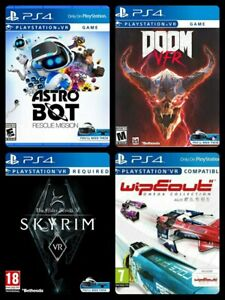 4 NEW Games PS4 VR ( Code - See Item Desc): Wipeout/DOOM/Astro Bot/Skyrim