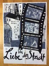 Liebe in der Stadt (Kinoplakat '57) - Michelangelo Antonioni / Federico Fellini
