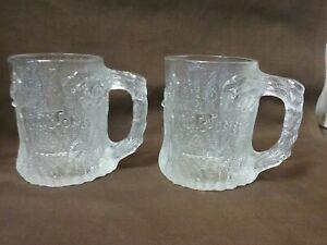 2  1993 Glass Flintstones Tree Mendous Mugs From McDonalds