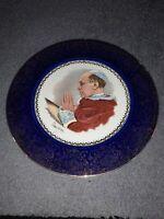 Imperial Service Plates By Salem China Co. 23 Karat Gold Blue