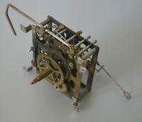"""Vintage Clock Movement, RHS, Germany, 3"""" x 3"""" Metal Frame, Repair /  Steam Punk"""