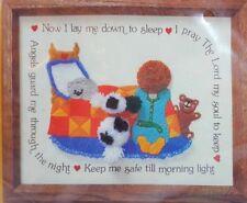 Creative Circle CREWEL Kit 0538 Now I Lay Me Down to Sleep Bedtime Prayer