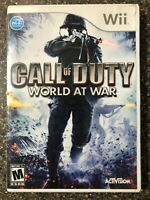 Call of Duty: World At War - Nintendo Wii - Clean & Tested Working - Free Ship