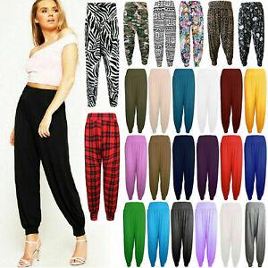 Womens ladies new harem trousers ALI BABA long pants baggy leggings regular size