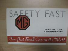 MG Midget Magnette folder brochure Prospekt English text 12 pages 1934 REPRINT