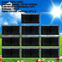 10Pcs 1V 0~0.02A Micro Mini Small Power Solar Cells Panel 45x25MM For DIY Toy