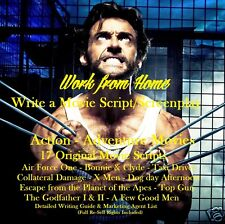 CD - Write a Movie Script - Action-Adventure - 20 eBooks (Resell Rights)