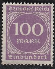 N0 933A  - German Empire Stamp -1923 - Inflation Era - 100 mark Purple  - NG