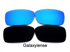 Galaxy Replacement Lenses For Oakley Crankcase Black&Blue Polarized 2 Pairs