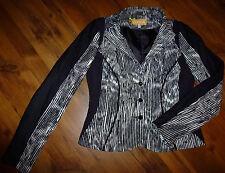 BiBA / CRiSCA Tolle Jacke Jäckchen Blazer Gr. 36 schwarz weiß (beige)
