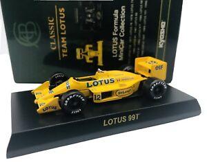 Kyosho 1/64 F1 1987 LOTUS 99T #12 Ayrton Senna diecast car model