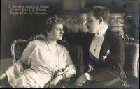 Ansichtskarte PK König Manuel II. Portugal Augusta Viktoria v. Hohenzollern 1913