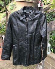 Danier Women's Classic Black Soft Genuine Leather Coat Jacket Sz 8-10 US