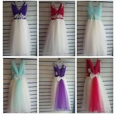 Full Length Polyester Party Dresses (2-16 Years) for Girls