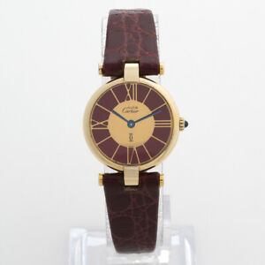 Cartier Must Ronde, Cathedral Dial, Extremely Rare, Outstanding Condition.