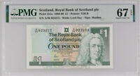Scotland 1 Pound 1988-90 P 351 a Superb Gem UNC PMG 67 EPQ Top Pop