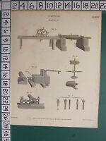 1808 Datato Antico Stampa ~Cannone~ Alesatura