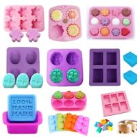 DIY Silicone Soap Mold Cake Candy Chocolate Cookies Baking Mold Ice Cube Mould