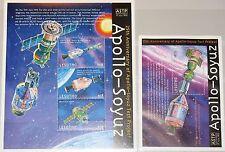 LESOTHO 2000 Klb 1634-36 Block 163 1241-42 Apollo Soyuz Mission Space Weltraum**